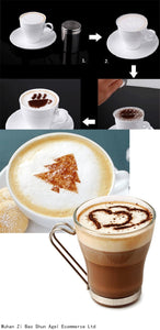 DealsOcean 4Pcs Coffee Milk Cake Cupcake Stencil Template