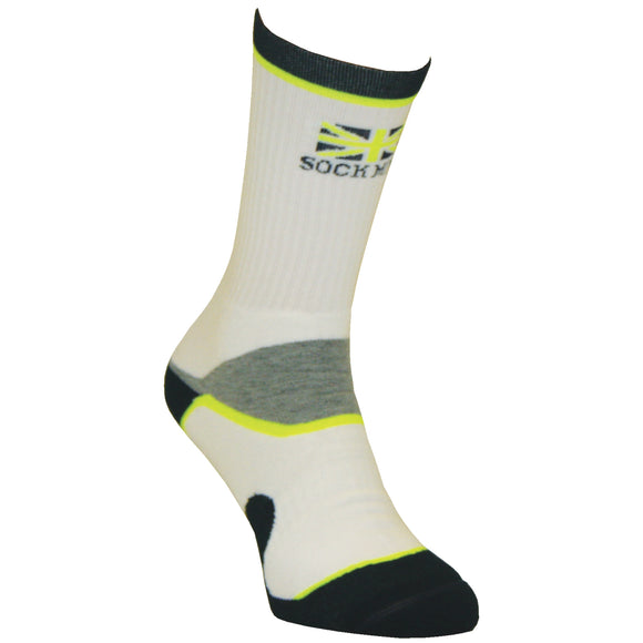 SockMine Training Crew in Lime/Grey/Navy