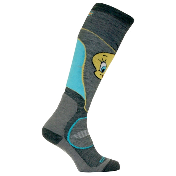 Tweety Pie Ultimate Snowboard Socks with Merino
