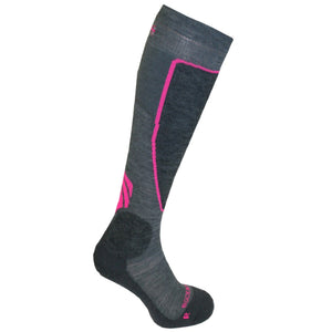 Ultimate Neon Pink Ski Socks with Merino