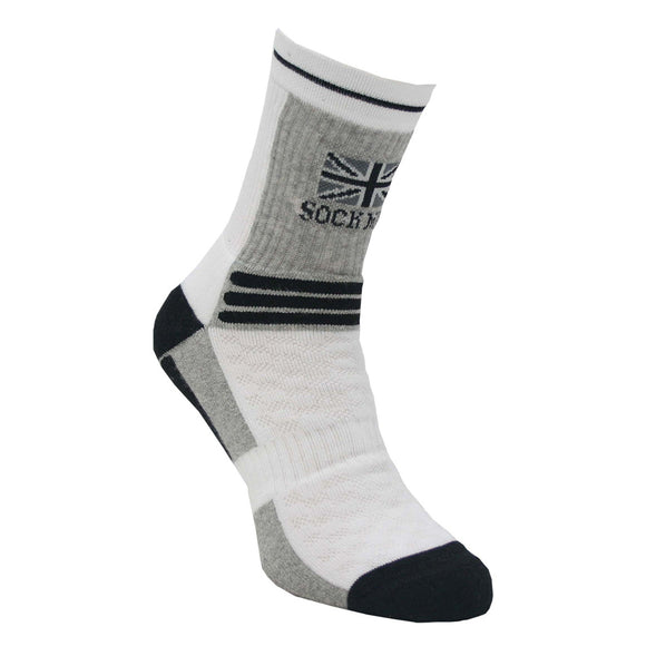 SockMine Training Crew in Grey/Black