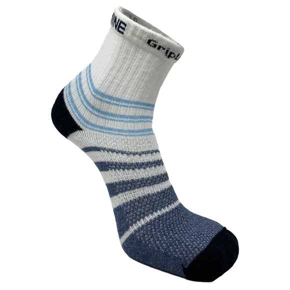 Sockmine GripLock™ Quarter in Blue/White Stripes