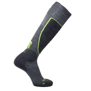 Ultimate Neon Green Ski Socks with Merino