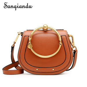 SANQIANDU 2017 Hot Sale Brand Design Women Bags Genuine Leather Girls Bag High Quality Girls Shoulder Bag Popular Messenger Bags