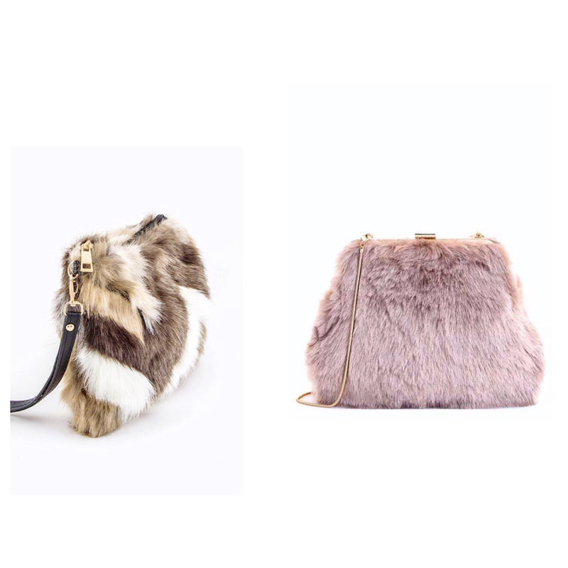 We are now sold out of the fur clutches!! Thank You!