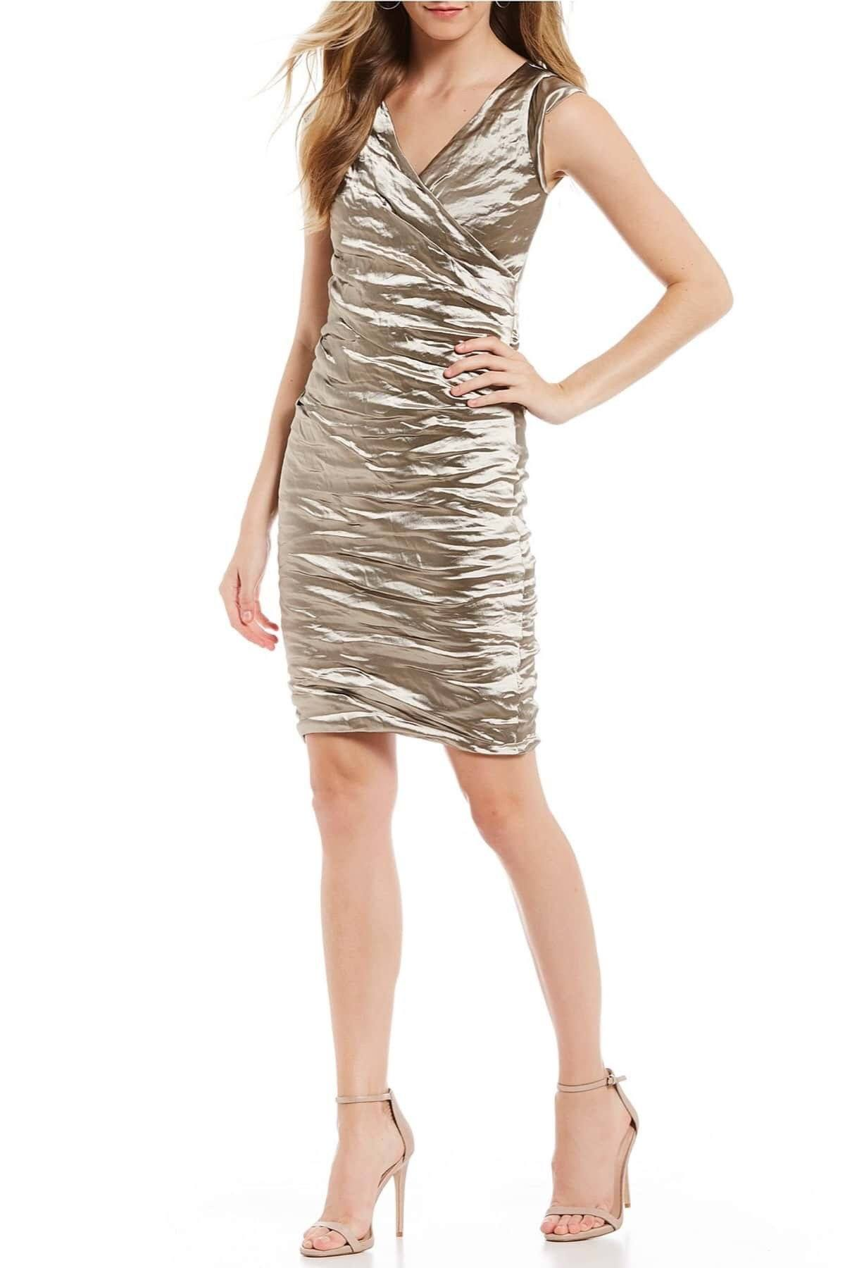 Dresses - Nicole Miller Beckett Techno Metal Dress