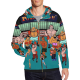 PunchOut Hoodie All Over Print Full Zip Hoodie for Men (Model H14)