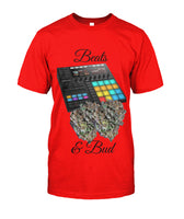 Beats & Bud - Red / S / Unisex Cotton Tee - Short Sleeves