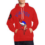 Red Viking Hoodie All Over Print Hoodie for Men (USA Size) (Model H13)
