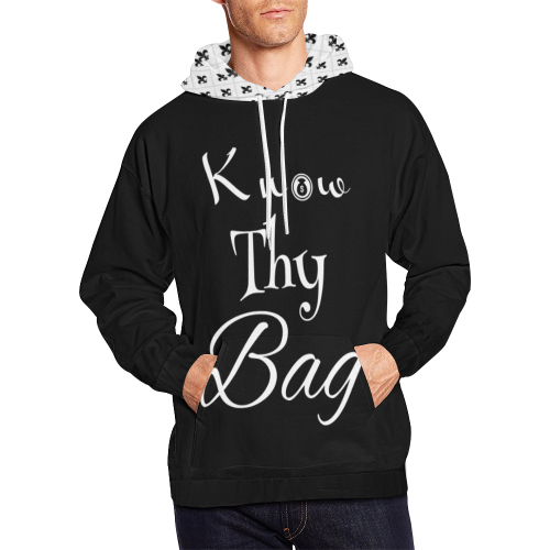 know Thy Bag All Over Print Hoodie for Men (USA Size) (Model H13)