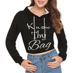 know thy Bag All Over Print Crop Hoodie for Women (Model H22)