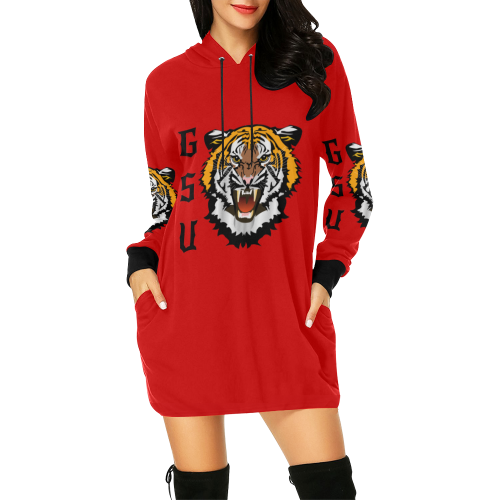 Gsu Hoodie All Over Print Hoodie Mini Dress (Model H27) - All Over Print Hoodie Mini Dress (H27)