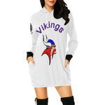 Vikings Hoodie Dress All Over Print Hoodie Mini Dress (Model H27)