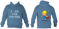 Young Builder Hoodie - Airforce Blue / 1-2Yrs (24 Inch Chest) - Childrens College Hoodie