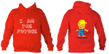 Young Builder Hoodie - Fire Red / 1-2Yrs (24 Inch Chest) - Childrens College Hoodie
