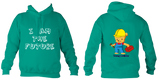 Young Builder Hoodie - Jade / 1-2Yrs (24 Inch Chest) - Childrens College Hoodie