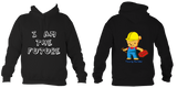 Young Builder Hoodie - Jet Black / 1-2Yrs (24 Inch Chest) - Childrens College Hoodie