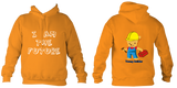 Young Builder Hoodie - Orange Crush / 1-2Yrs (24 Inch Chest) - Childrens College Hoodie