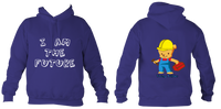 Young Builder Hoodie - Purple / 1-2Yrs (24 Inch Chest) - Childrens College Hoodie