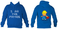 Young Builder Hoodie - Royal Blue / 1-2Yrs (24 Inch Chest) - Childrens College Hoodie