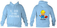 Young Builder Hoodie - Sky Blue / 1-2Yrs (24 Inch Chest) - Childrens College Hoodie