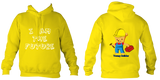 Young Builder Hoodie - Sun Yellow / 1-2Yrs (24 Inch Chest) - Childrens College Hoodie