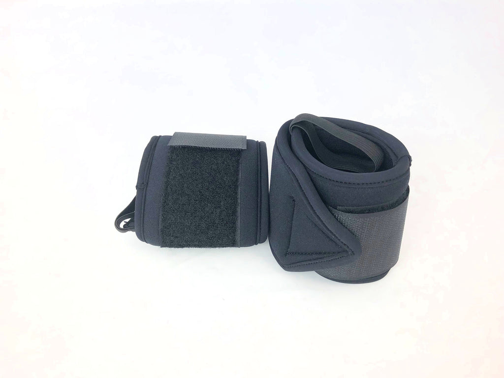 7mm Black wrist wraps