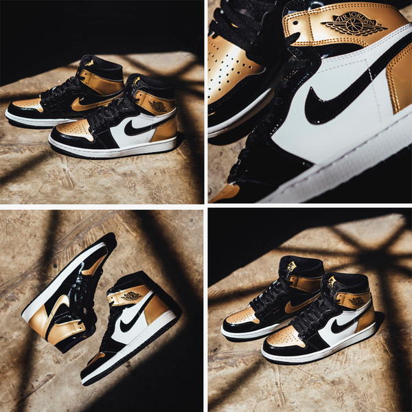 "Air Jordan 1 Retro High OG ""Gold Toe"""