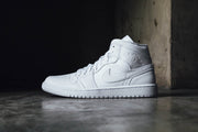 "Air Jordan 1 Mid ""Triple White"""
