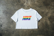 "Nike ""Be True"" Womens Cropped Tee"