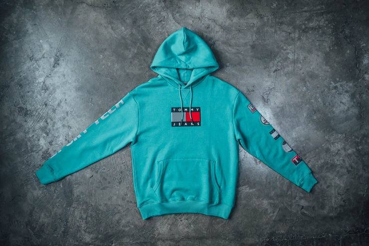 Tommy Hilfiger Sport Tech Denim Logo Hoody - [color] - [sku] - Lust México