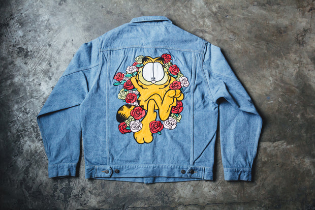 Garfield Roses Denim Jacket - [color] - [sku] - Lust México