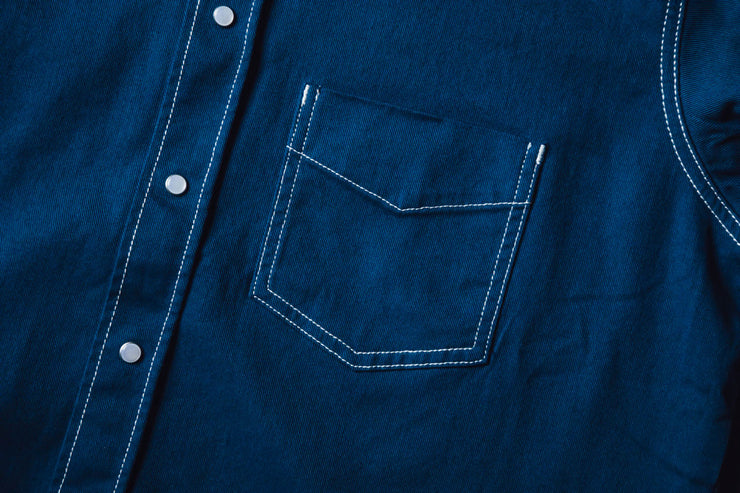 LH Overdyed Denim Shirt - [color] - [sku] - Lust México