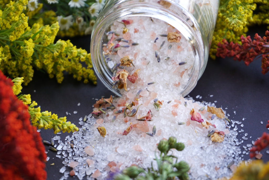 Natural Bath Salts-Champ de Fleurs - Floral bath salts -epsom bath salt