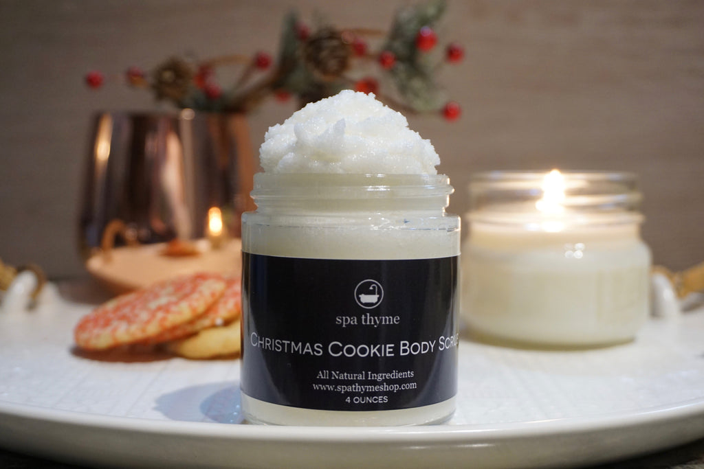 cookie scents - body scrub - christmas scents - christmas gifts - stocking stuffers - natural skincare
