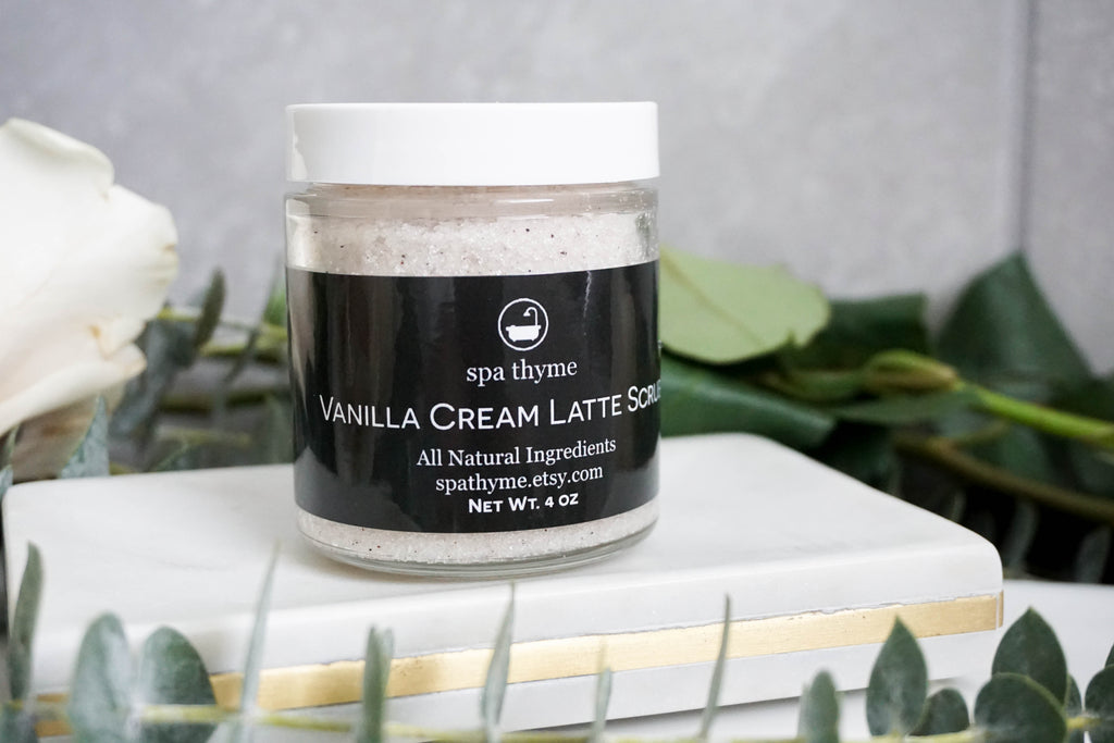 Handmade All Natural Vanilla Cream Latte Body Scrub