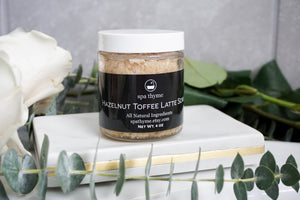 Hazelnut Toffee Latte Body Scrub - latte gifts - hazelnut body scrub - sugar scrubs - birthday gifts- natural skincare
