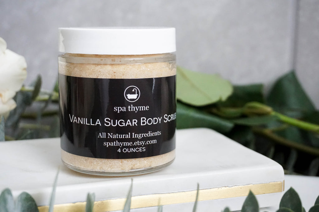Handmade All Natural Vanilla Sugar Body Scrub