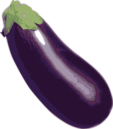 vegetable artwork aubergine
