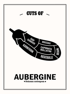 Cuts of Aubergine