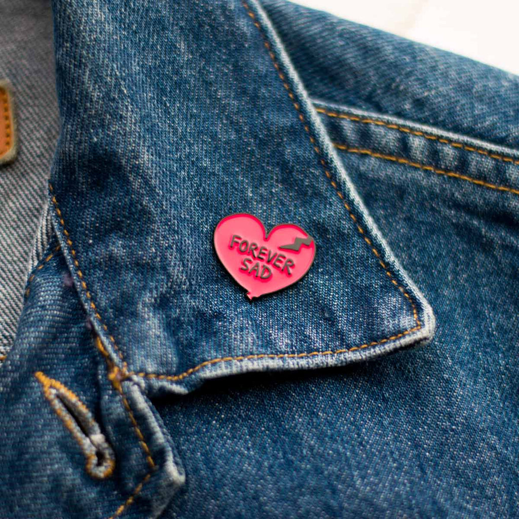 Forever Sad Heart Lapel Pin