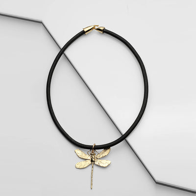 Dragonfly 10k Yellow Gold
