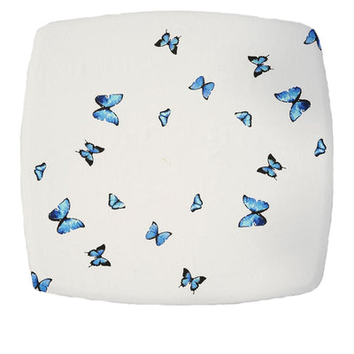 Blue Butterfly Square Tablecloth