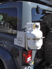 Jeep JK, External Corner Mount, for Propane Bracket.