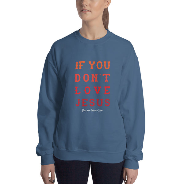 If You Don't Love Jesus Sweatshirt