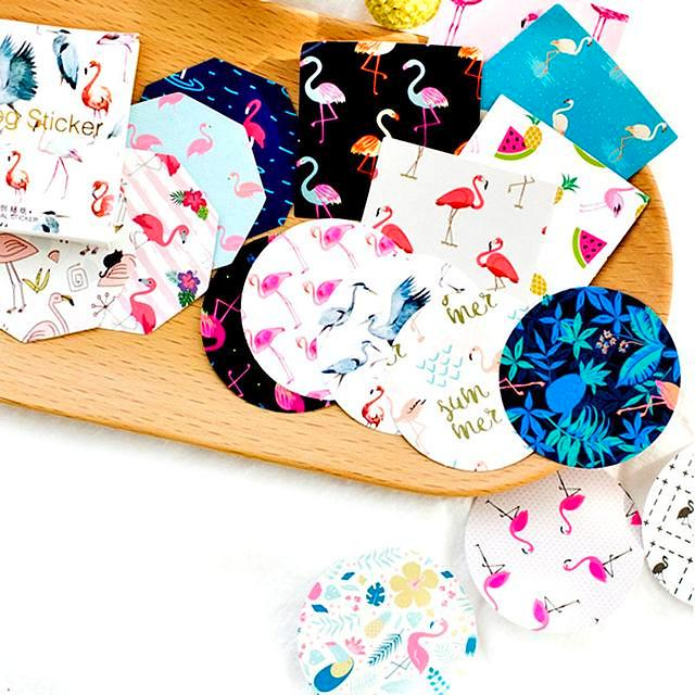 45pcs Flamingo Lifelog Stickers For Scrapbooks, Labels, Gifts and More