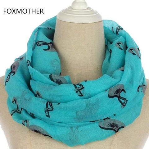 Lightweight Soft and Sheer Flamingo Infinity Scarf For Women