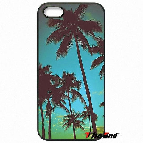 Tropical Island Palm Tree Beach Phone Case Cover For Samsung Phones
