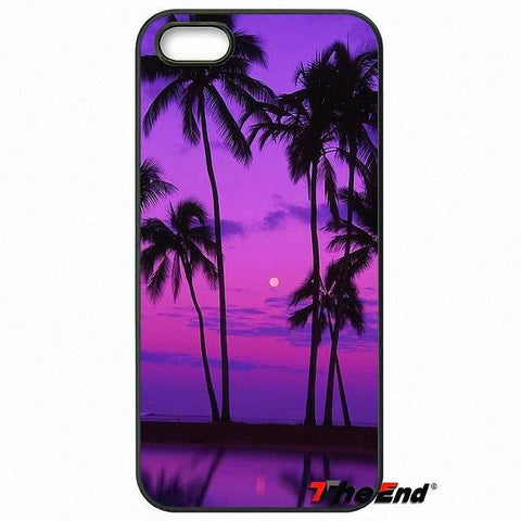 Tropical Island Palm Tree Beach Phone Case Cover