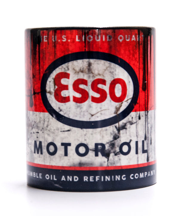 Retro Esso Motor Oil Mug